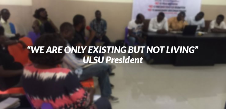 EXISTING BUT NOT LIVING AT THE UNIVERSITY OF LAGOS