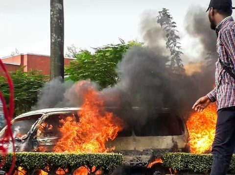 "[VIDEO] NTA bus fire explosion: ""Everywhere was foggy, I could not see,"" eye-witness recounts"