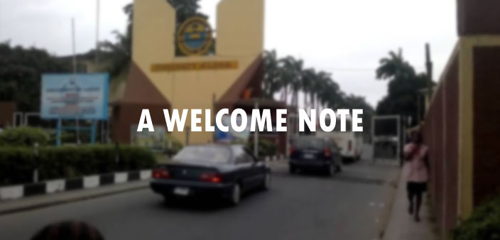 A WELCOME NOTE